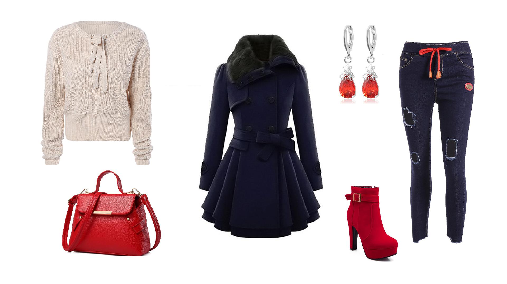 wishlist-gamiss-stylizacja-na-jesien-granat-czerwień-bezowy-sweterek-dlugie-kolczyi-botki-na-obcasie-Wishlist Gamiss