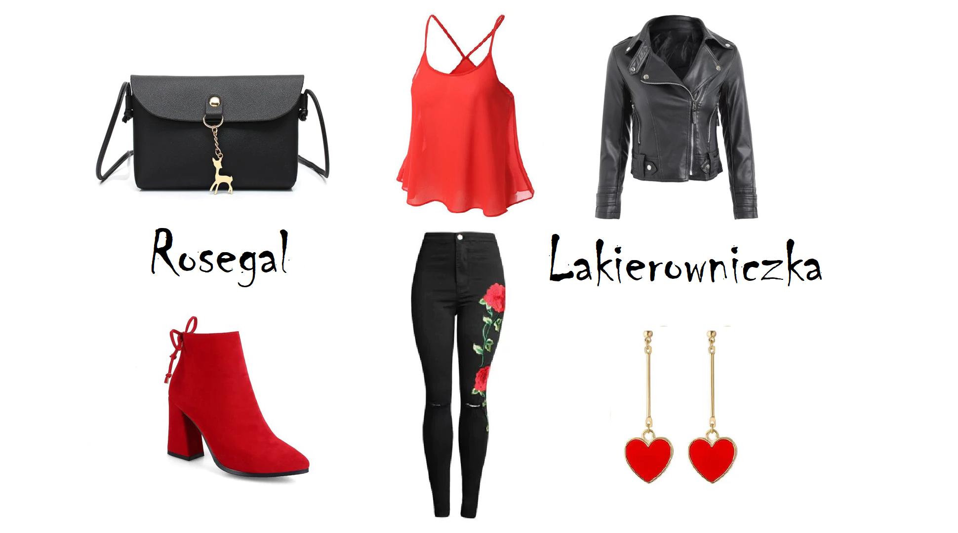 czarno-czerwono-z-Rosegal-moja-propozycja-stylizacji-Lakierowniczka-czarno-czerwono z Rosegal