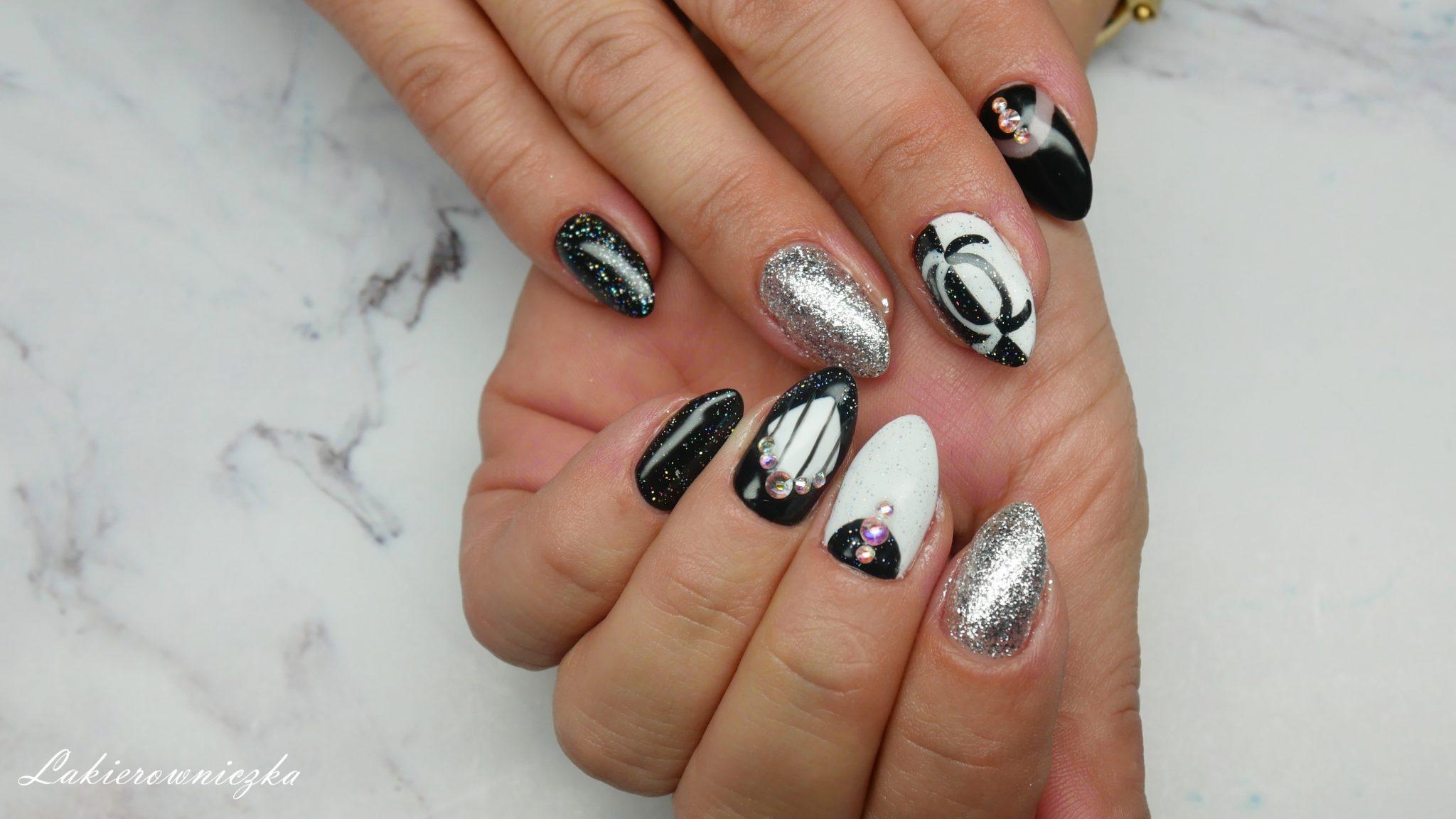 czarno-biale-hybrydy-paznokcie-hybrydowe-black-and-white-hybrid-nails-Lakierowniczka-czarno-białe hybrydy
