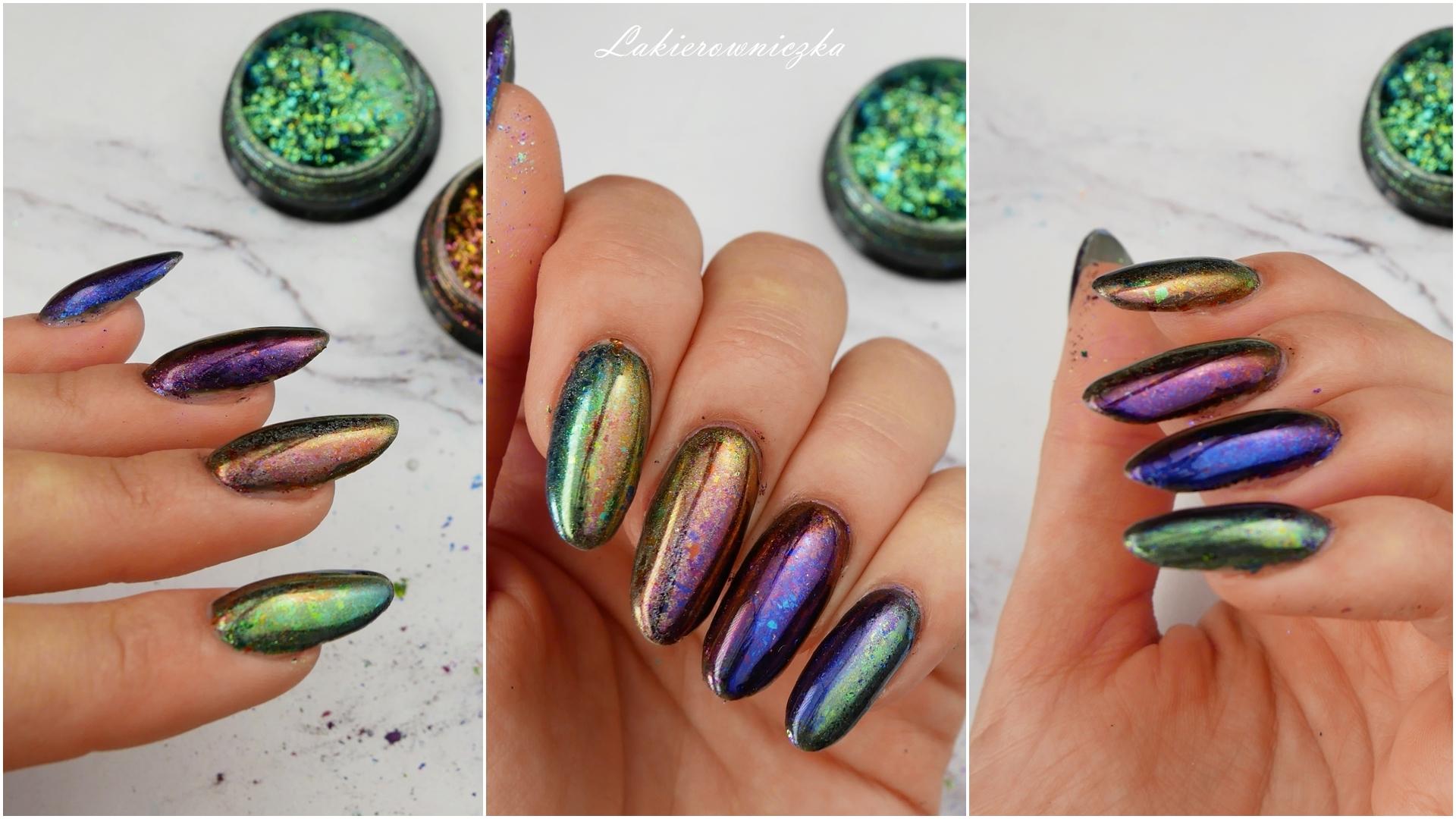 cieniowanie-pylkami-ombre-paznokcie-gradient-Victoria-vynn-Lakierowniczka-33-green-meadow-36-aubergine-40-goldflix-mix-duochrom-efekt-lustra-szkla
