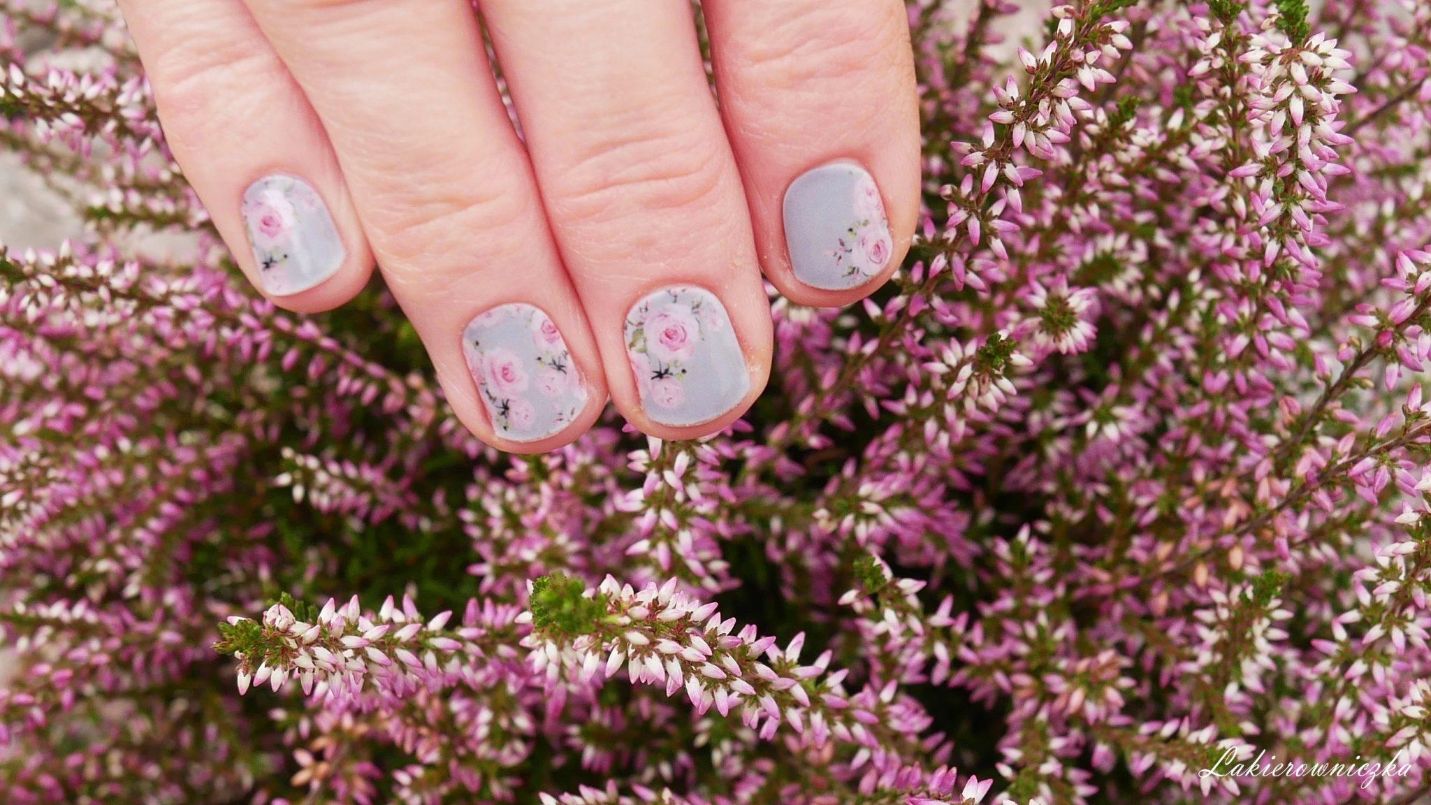 Manirouge-Basia-Blog-Rose-nakeljki-termiczne-szarne-paznokcie-w-roze-stickers-rose-nails-nailart-Lakierowniczka