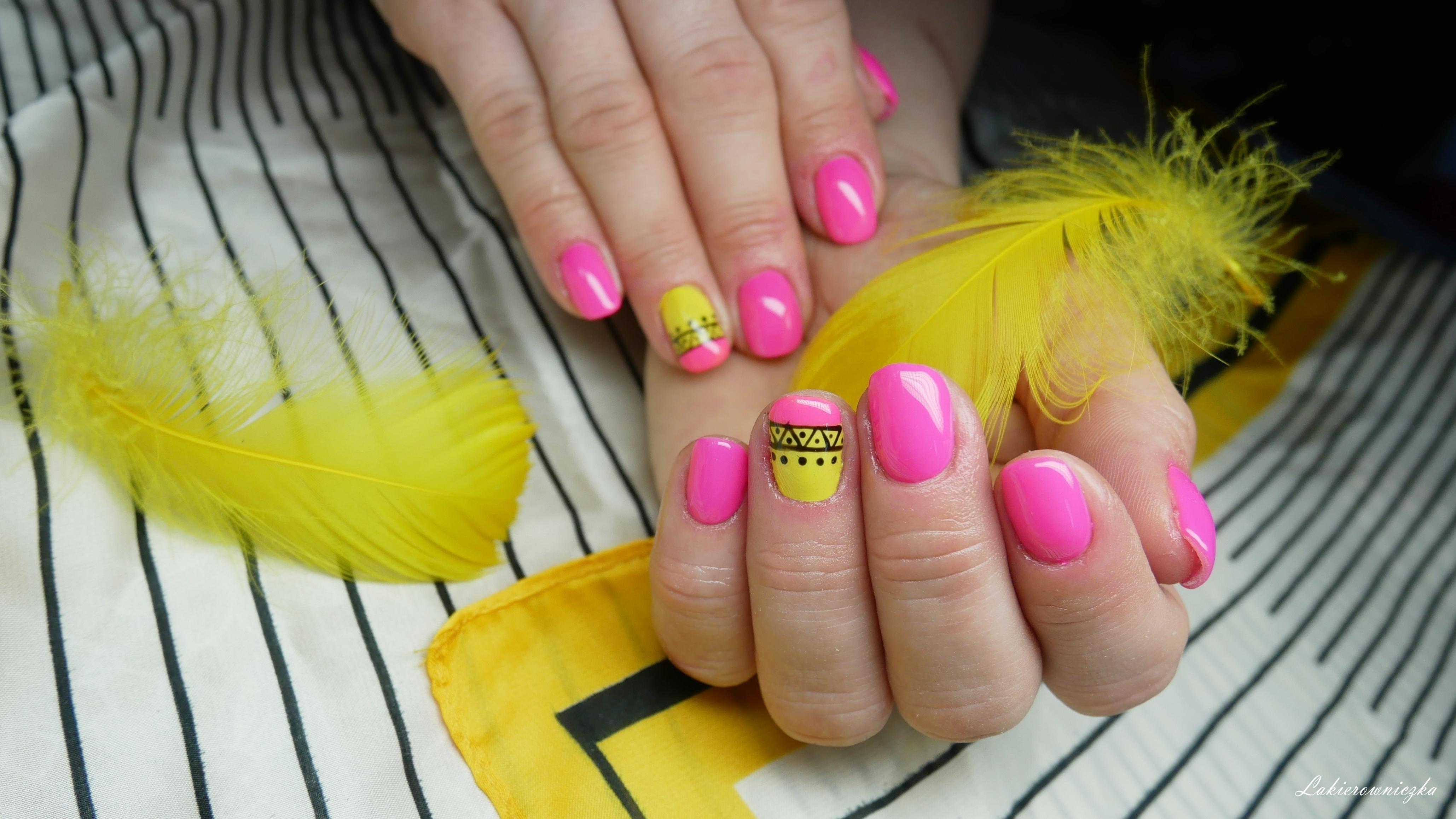 Hybrydy-neonowy-roz-i-zolty-Madam-Glam-Floris-My-chick-kombinezon-Dresslily-Lakierowniczka