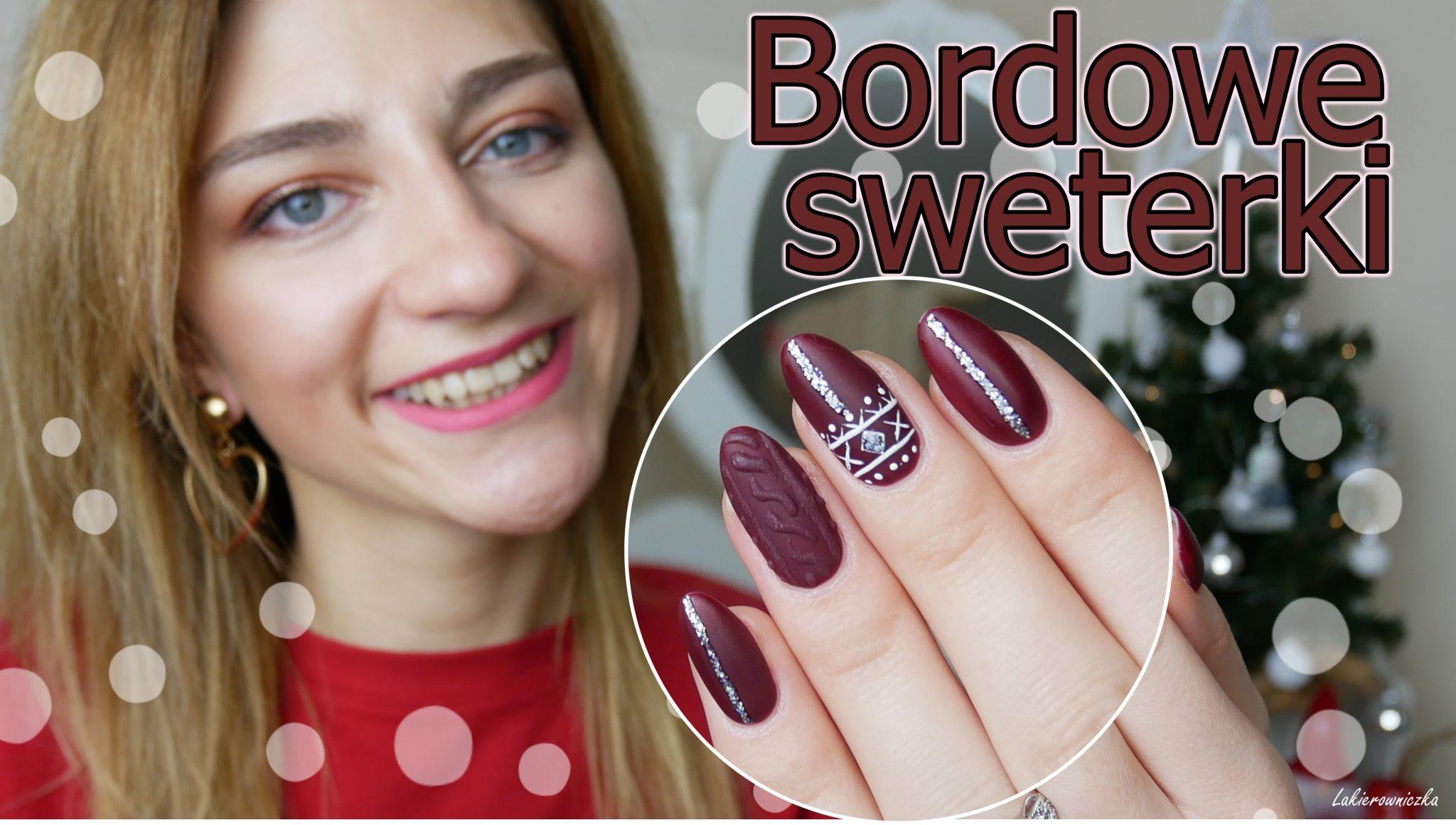 sweather-nails-bordowe-sweterki-na-paznokciach-Kinetics-Absolute-catch-Lakierowniczka
