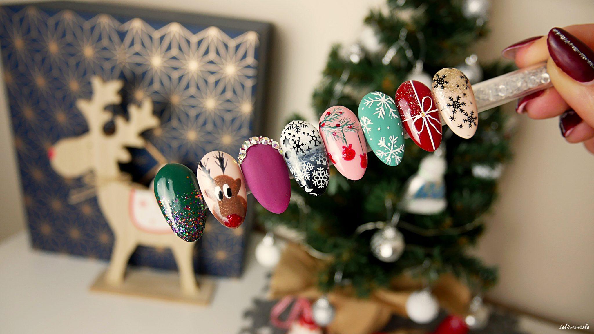 winter-nails-christmas-hybryd-nailart-snowflakie-zimowe-paznokcie-swiateczne-hybrydy-Lakierowniczka