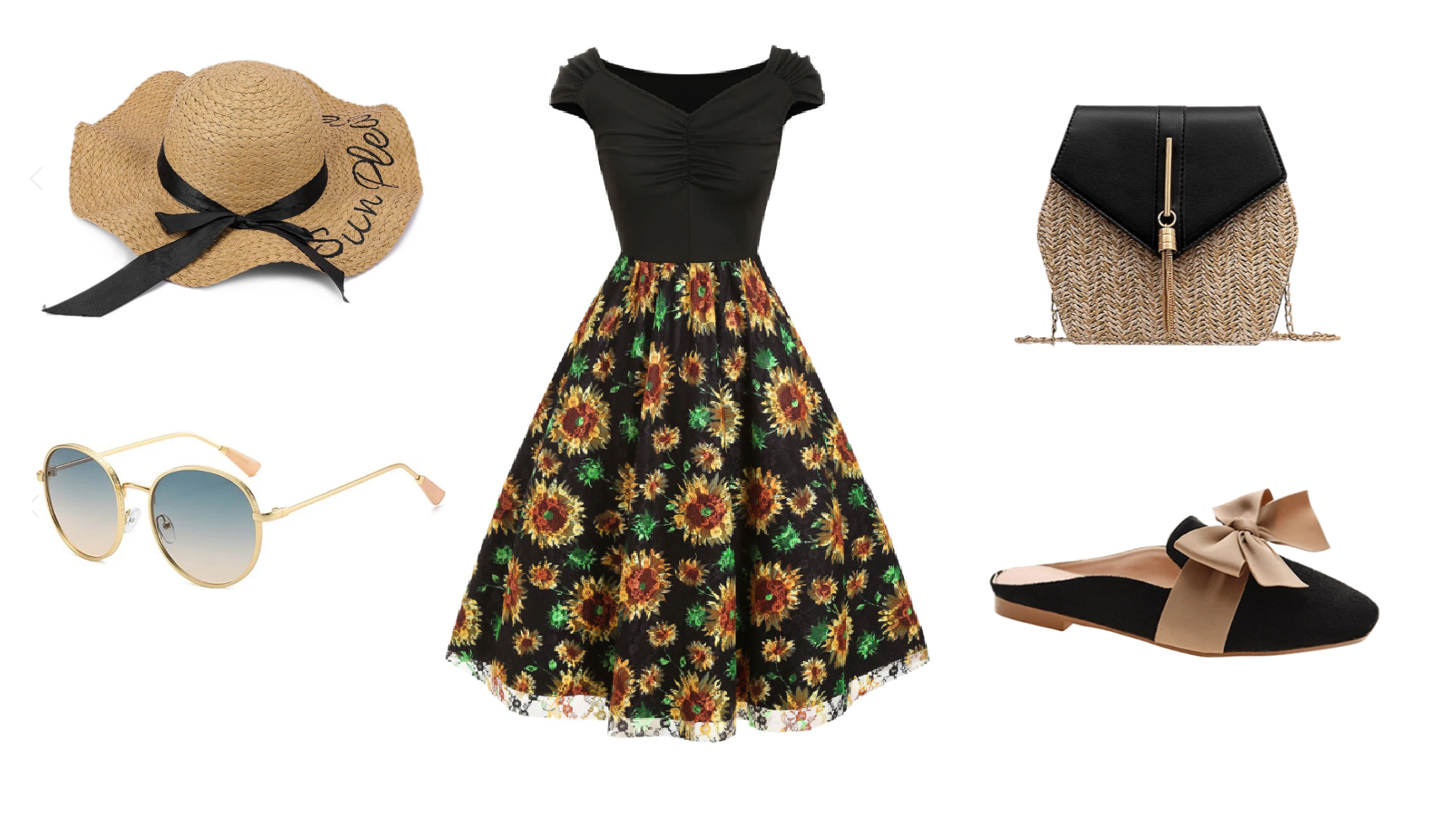 dresslily-4-sunflower-dress-bag-shoes-hat-summer-outfit-Lakierowniczka