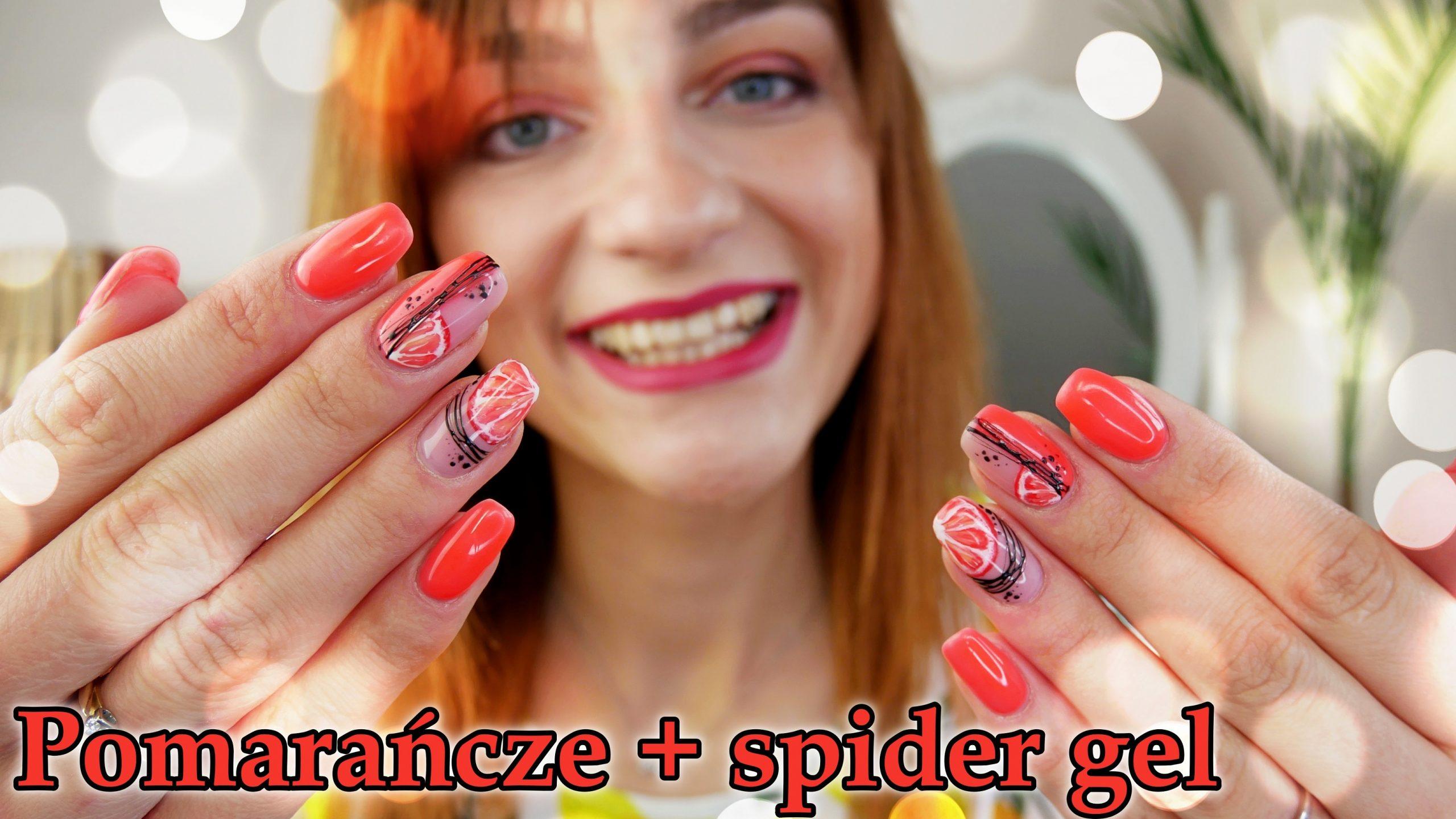 owoce-na-paznokciach-fruit-nails-spring-Lakierowniczka- pomarańczowe hybrydy