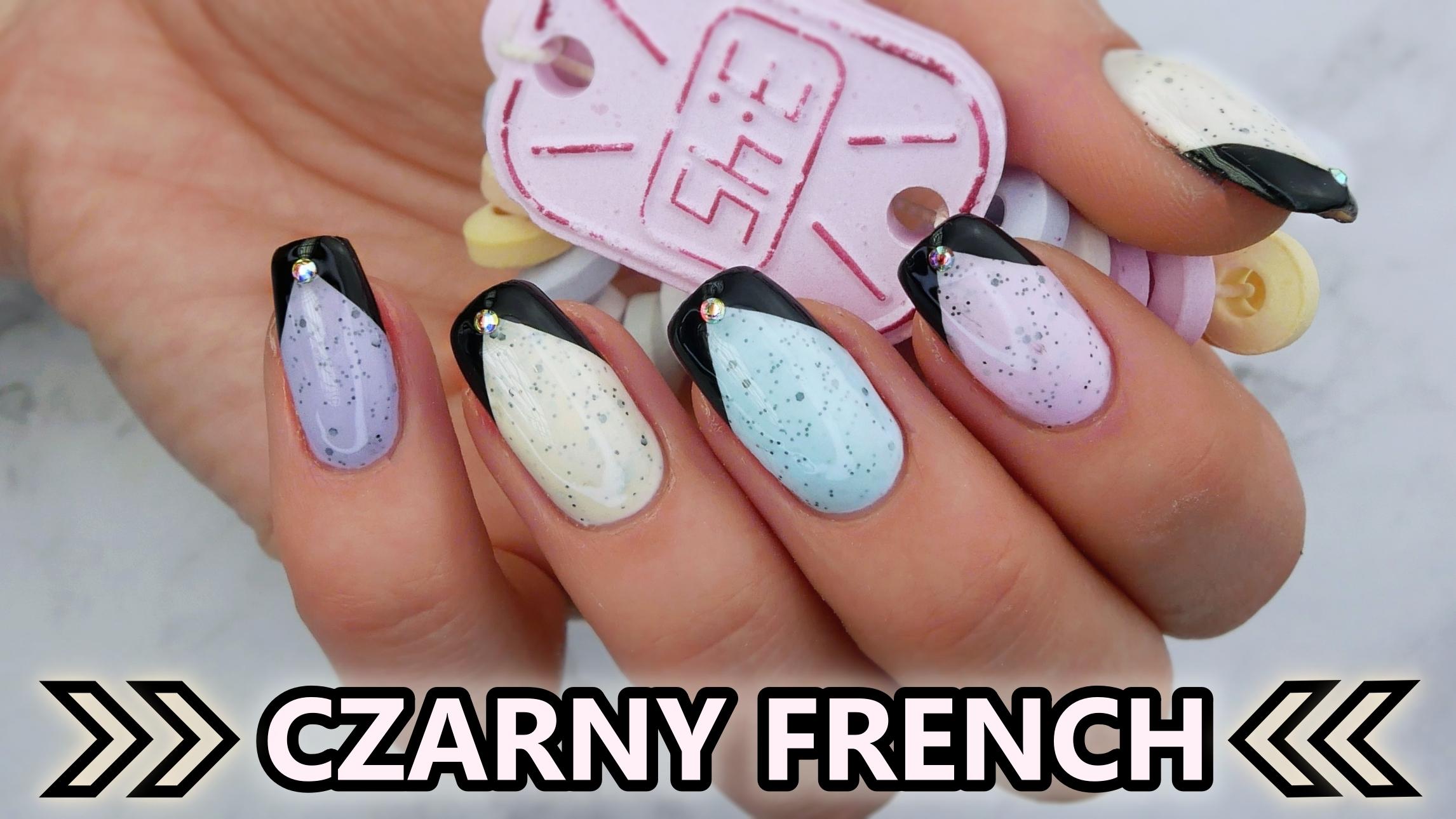Slowianka-Yummy-pastel-nails-pastele-pastelowe-paznokcie-black-french-czarny-francuski-Lakierowniczka
